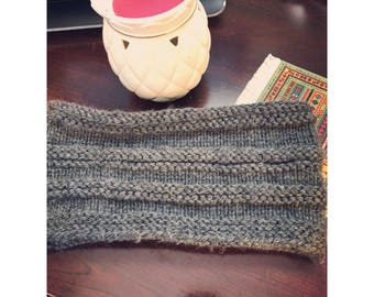 Knitted, striped cowl, infinity scarf