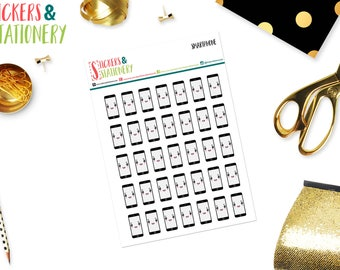 Cell Phone Planner Stickers - QSSPH