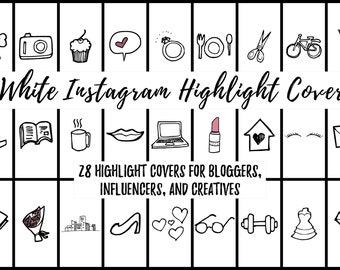 28 White Instagram Story Highlight Cover Icons for Bloggers, Influencers, and Creatives
