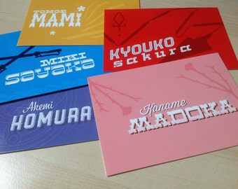 Magical Girl A6 postcard set (5 postcards)