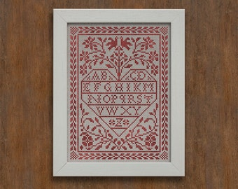 Love Letters - Romantic Cross-Stitch Pattern 4 page Instant Download PDF booklet
