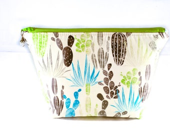 Makeup Bag   Zipper Pouch   Toiletry Bag   Makeup Pouch   Travel Case   Gifts for Her   Cactus Zipper Pouch   Gifts under 20   Cactus
