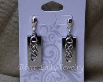 Celtic Infinity Knot USB Drive Earrings