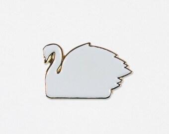 Swan Soft Enamel Lapel Pin - The Format Collaboration