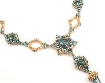 Beading Tutorial for Zealous Spire Necklace, beadweaving patterns, beaded instructions, beading tutorials, necklace tutorials