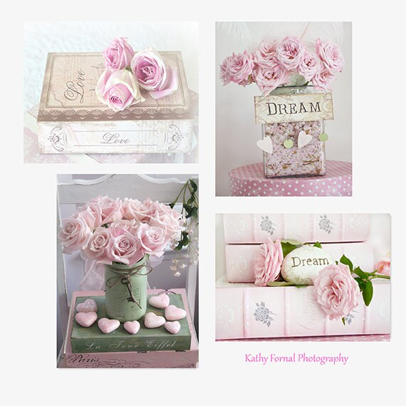 Roses photography dreamy pink roses prints baby girl nursery - Cuadros shabby chic ...