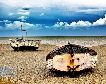 Photograph; Abandoned Boats