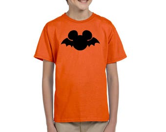 Mickey Bat - Mickey Mouse - Disney Halloween Shirt - Mnsshp - Disney Halloween - Disney Shirt - Disney Shirt for Boy's - Disney Kids Shirt