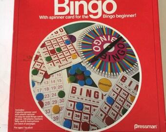 Vintage 1982 bingo game