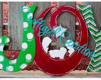 JOY Christmas Door Hanger