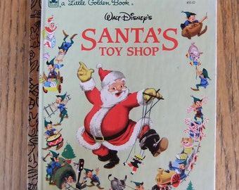 Sale 1950 Walt Disney's Santa's Toy Shop Little Golden Book Illustrations The Walt Disney Studio Adapted by Al Dempster ISBN 0-307-02070-3