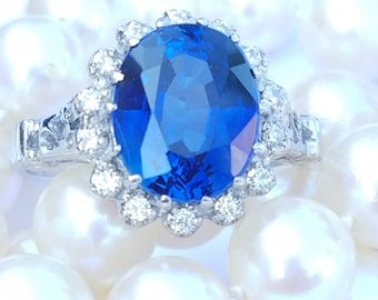 real faux gold diamond ring sapphire vintage products