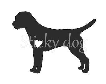 Border Terrier silhouette sticker