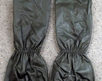 vintage Swiss military army gloves army surplus 1989, 3/4 length officer soldier