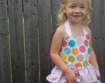Custom Ruffled Scrap Dress - Cupcake Dress