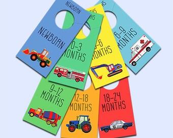 Printable nursery closet dividers Print yourself Nursery organization Baby boy closet organizer DIY INSTANT DOWNLOAD Baby clothes divider
