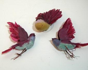 Feather Birds, Set of Three