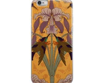 Vintage Art Nouveau Iris- iPhone Case