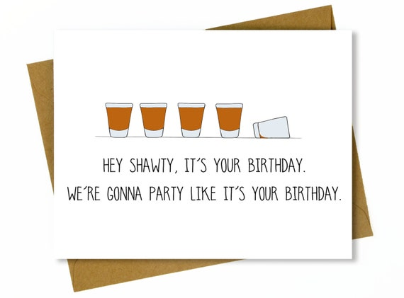 Funny birthday card for friend funny best friend birthday like this item bookmarktalkfo Choice Image