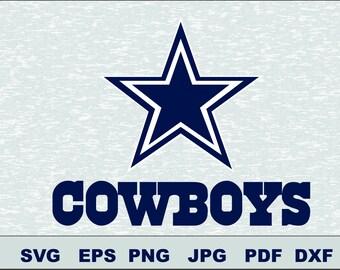 Dallas Cowboys Svg, DFX  Eps, , Vector, Cut File Silhouette Studio Cameo Cricut Design Template Stencil Vinyl Decal