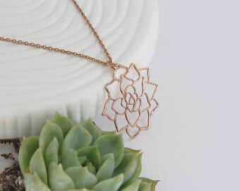 Succulent Necklace | Rose Gold | ATL-N-192-R