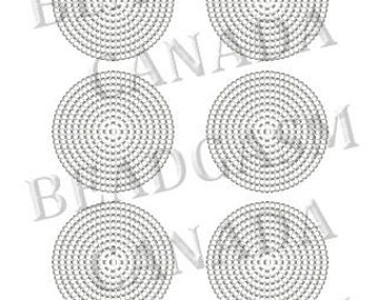 Beaded Rosette Patterns Miyuki Delica Seed Beads 11/0 Blank Graph