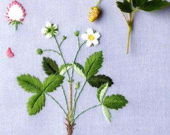 Kazuko Aoki Embroidered Garden Flowers - Japanese Craft Book MM