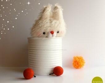 Little bunny mohair plush, plush toy , mohair animal, Bunny, art teddy bears, Amigurumi mohair,