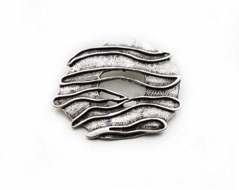 Wave Pendant, Antique Silver Pendant, 1pc Wave Pendant, Large Pendant, Metal Pendant, Jewelry Making, DIY Pendant