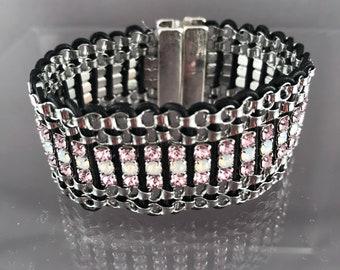 Swarovski cup chain Cuff Bracelet