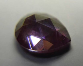 Orchid Pink/Purple Rose-cut Pear Moissanite