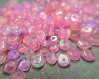 Tiny pink Ethiopian Welo Opal beads
