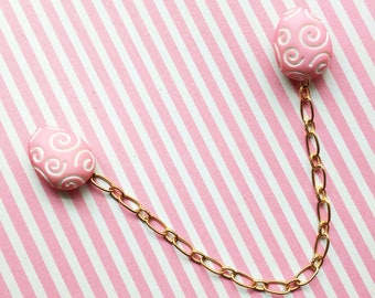 Cardigan Clips, Sweater Pins, Sweater Clips, Collar Pins, Collar Clips, Sweater Chain, Easter Eggs, Easter Pins, Pinup Accessory, Retro Pin