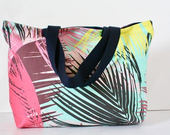 Palm Leaves Tote Bag, Beach Bag, Summer Bag, Tote Bag,