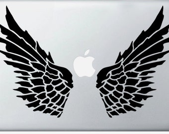 Angel Wings laptop DECAL- macbook iPad computer- vinyl sticker