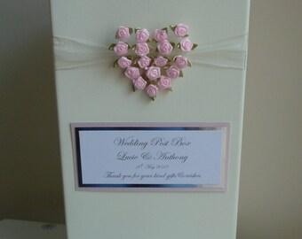Rose heart wedding post box