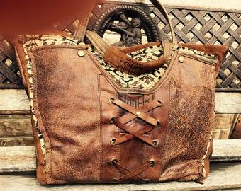 Ladies geniune leather handbag