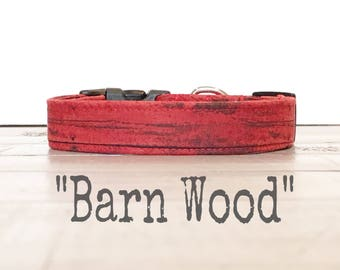 DOG COLLAR, Dog Collars, The BARNWOOD, Dog Collar, Farmhouse, Rustic, Barn Wood, Cool Dog Collar