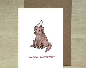 Happy birthday labrador greeting card