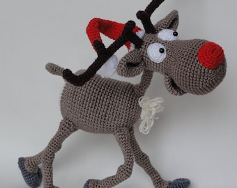 Amigurumi Crochet Pattern - Rudolf the Reindeer - English Version