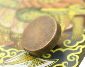 Metal Buttons - Copper Metal Shank Buttons - 0.75 inch - 6 pcs