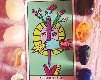 Kitty Kahane Tarot Card Reading, Divination, Intuitive Reading using Crystals