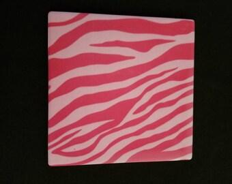 Pink Zebra Sandstone Coaster