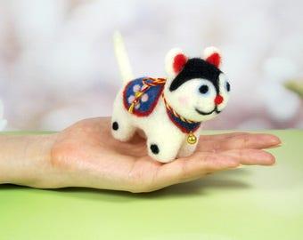 Needle felting animals, Japanese traditional toy dog, Inu Hariko, Komainu, good luck charm , Japanese, 犬張子, 縁起物