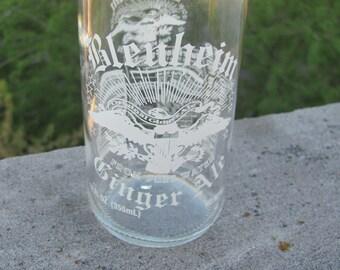 Upcycled Glenheim Ginger Ale Bottle Glass