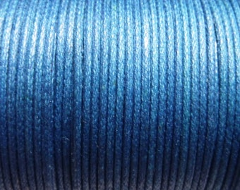 100 meter cotton cord 1.5mm blue CH0100