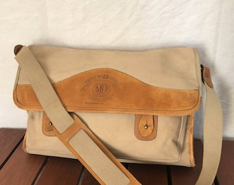 GHURKA ThE Associate No 23 Marley Hodgson Tan Leather Briefcase Bag