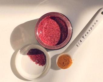 HIBISCUS + TURMERIC Honey Scrub. Organic. Anti-Aging. Brightening. Detoxifying. Face and Body Exfoliant. Cleanser. Mask.