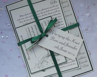 Handmade wedding Tying The Knot Invitation Set