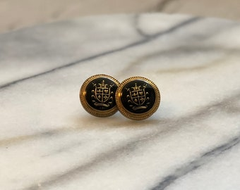Reimagined Vintage Button Stud Earrings